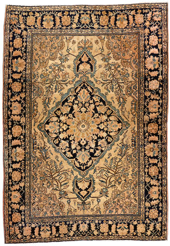 A Fereghan Sarouk rug Central Persia size approximately 3ft. 4in. x 4ft. 9in.