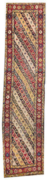A Karabagh runner  Caucasus size approximately 3ft. 9in. x 15ft. 2in.