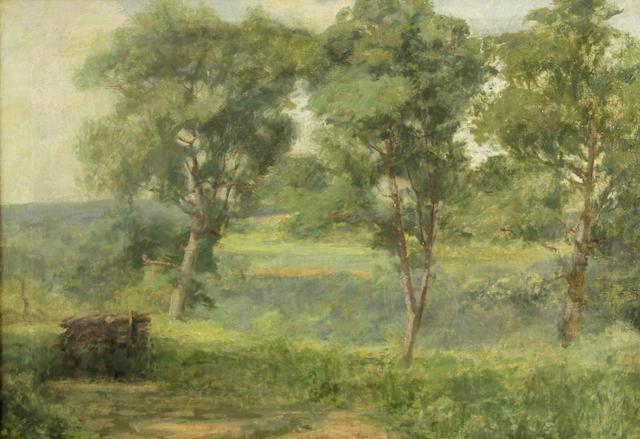 Charles Henry Harmon (American, 1859-1936) Santa Clara Valley 20 1/2 x 28in