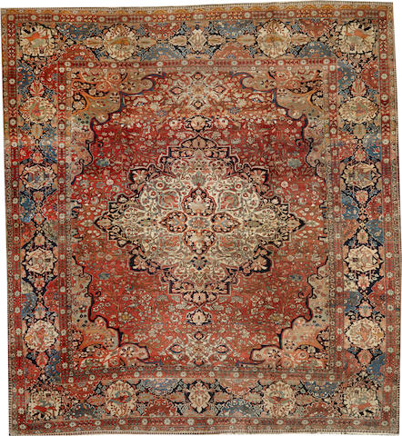 A Mohtasham Kashan carpet Central Persia size approximately 9ft. 5in. x 10ft. 2in.
