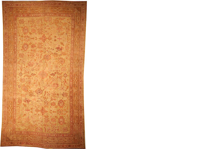 An Oushak carpet  West Anatolia size approximately 11ft. x 19ft. 2in.