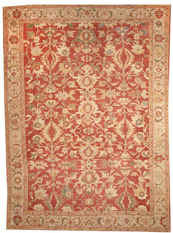 A Sultanabad carpet Central Persia size approximately 11ft. x 15ft.