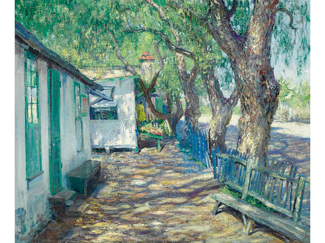 Guy Rose (American, 1867-1925) San Gabriel Road, circa 1914 24 x 29 1/4in