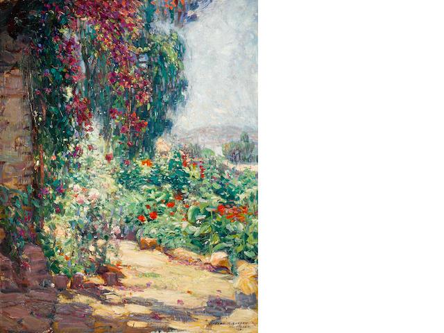 Joseph Kleitsch (1882-1931) Bougainvillea, Capistrano Mission, 1923 30 x 24in