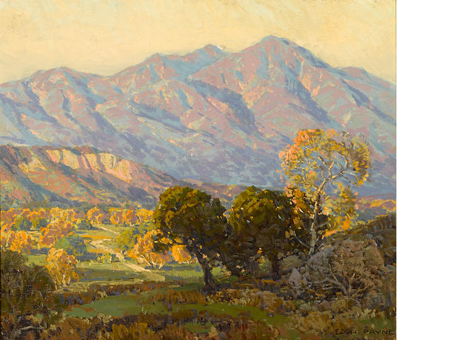 Edgar Payne (1883-1947) Canyon Mission Viejo, Capistrano 24 x 28in