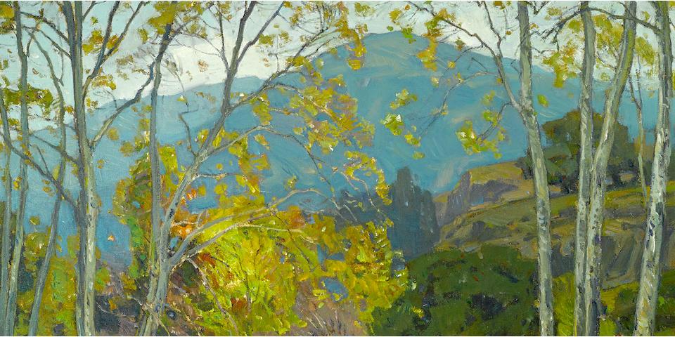 William Wendt (American, 1865-1946) Quiet brook, 1923 30 x 36in