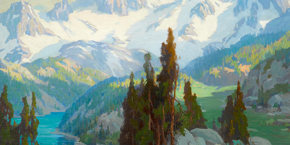 Marion Kavanagh Wachtel (American, 1870-1954) Mount Whitney 30 x 40in
