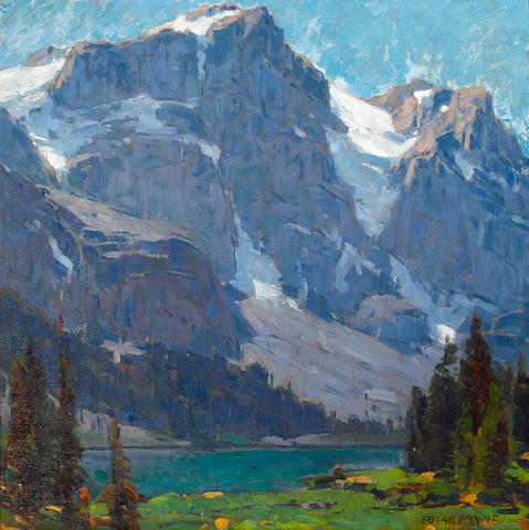 Edgar Payne (1883-1947) Sierra lake and peaks 34 x 34in