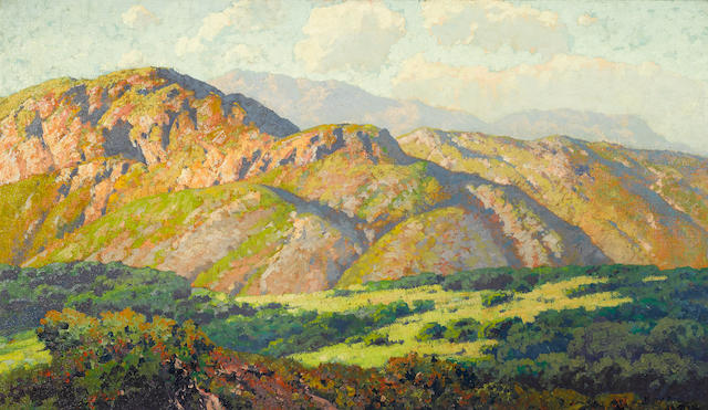 Maurice Braun (American, 1877-1941) Hills at Lakeside, San Diego 38 x 48in