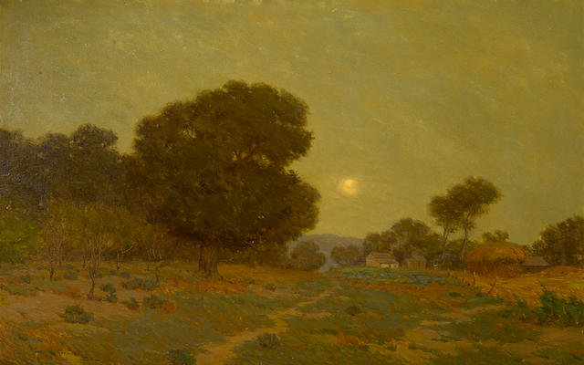Granville Redmond (American, 1871-1935) Evening, 1910 24 x 38in