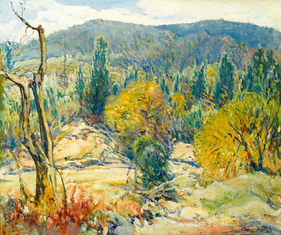 Charles Reiffel (American, 1862-1942) Autumn in the Mountains 25 x 30