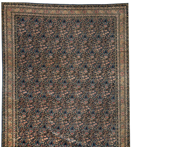 A Lavar Kerman carpet  South Central Persia size approximately 12ft. 4in. x 21ft. 6in.