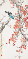 Huang Huanwu (1906-1985) Bird and Flowering Branches