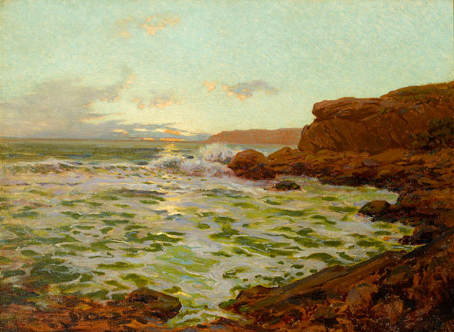 Granville Redmond (American, 1871-1935) Rocky Point, Laguna 22 x 30in