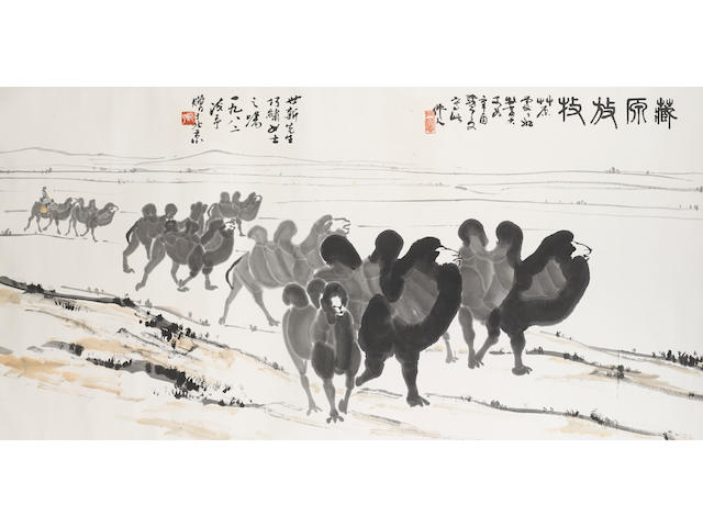 Wu Zuoren (1908-1997) Camels, 1981