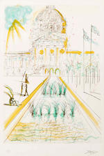 Salvador Dali (Spanish, 1904-1989); City Hall; Telegraph Hill; Chinatown, from San Francisco Suite; (3)
