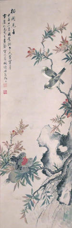 Various Artists (19th/20th century) Two paintings of Birds and Flowers
