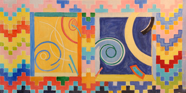 Katherine Porter (American, born 1941) Study for outdoor tile 28 1/2 x 56 1/2 in.