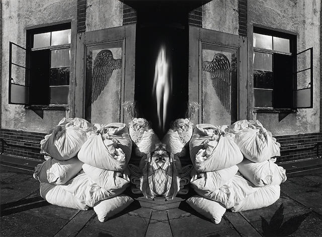 Jerry Uelsmann, Untitled, 1980, gelatin silver print, Signed and dated, 10 x 13 1/2in
