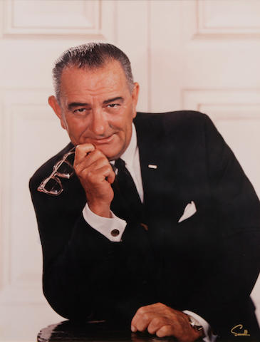 A Wallace Seawell photograph of Lyndon B. Johnson