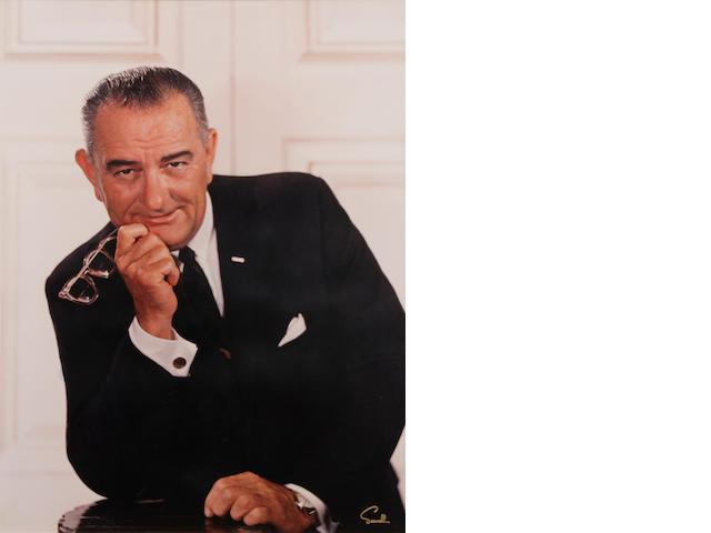 A Wallace Seawell photograph of Lyndon B. Johnson