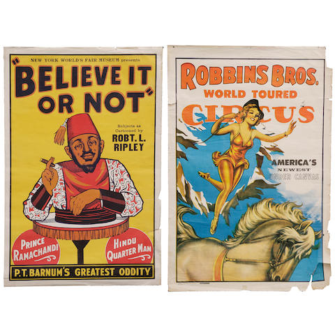 A pair of circus posters