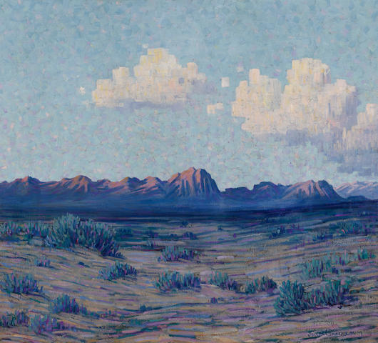 Joseph David Greenbaum (American, 1864-1940) White clouds 42 3/4 x 46 1/2in