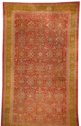 A Sultanabad carpet  Central Persia size approximately 13ft. 6in. x 23ft. 4in.