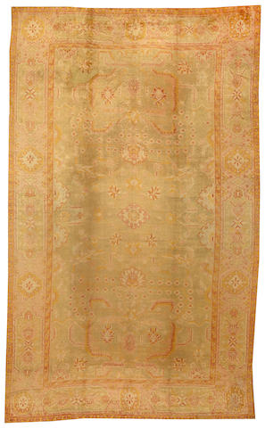 An Oushak carpet West Anatolia size approximately 10ft. 5in. x 17ft. 2in.