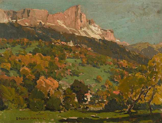 Edgar Payne (1883-1947) Valley of St. Gervais 12 x 16in