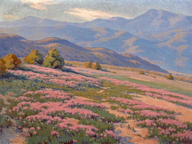 John Marshall Gamble (American, 1863-1957) Wild verbena, near Palm Springs 30 x 40in