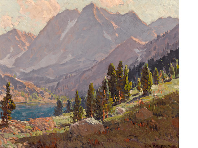 Edgar Payne (1883-1947) View at Sabrina Lake, Inyo County 20 1/4 x 24 1/4in