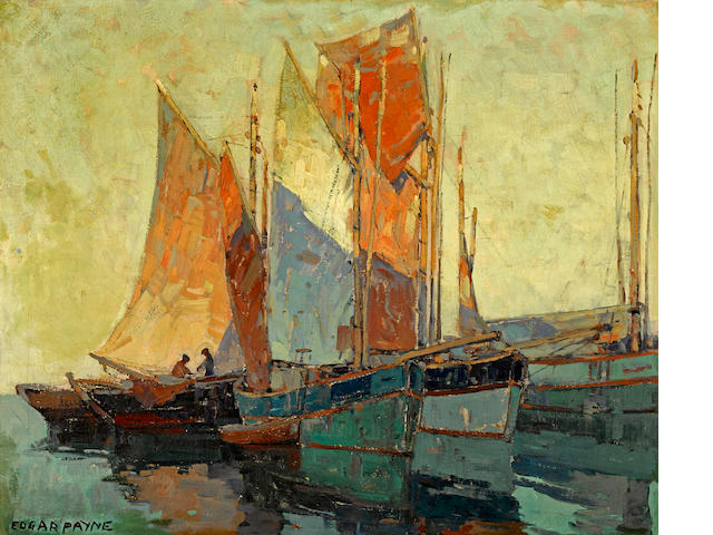 Edgar Payne (1883-1947) Brittany boats  28 x 34in