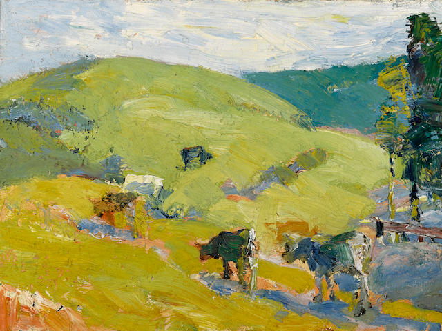 Selden Connor Gile (American, 1877-1947) Lucas Valley, 1920 12 x 16in