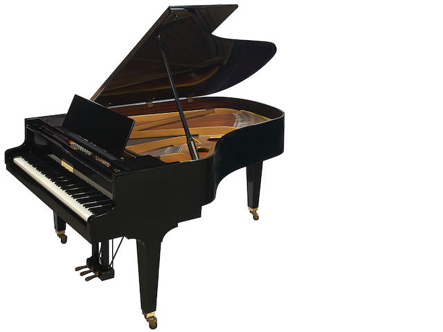 A Grotrian ebonized grand piano