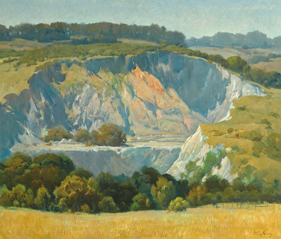 Percy Gray (1869-1952) Quarry near Spring Valley lakes 34 x 40in
