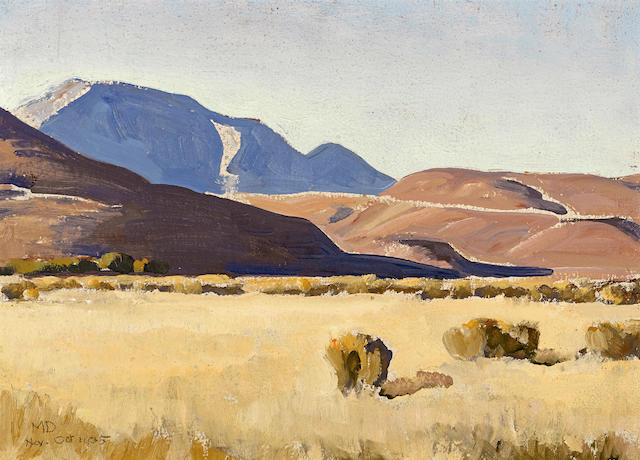 Maynard Dixon (1875-1946) Desert hills, Nevada, 1935 sight: 9 3/4 x 13 1/2in