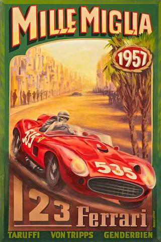 Robert Carter, 1957 Mille Miglia,