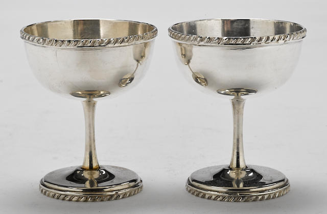 A pair of Mexican  sterling silver  goblets marked Anexo,  20th century
