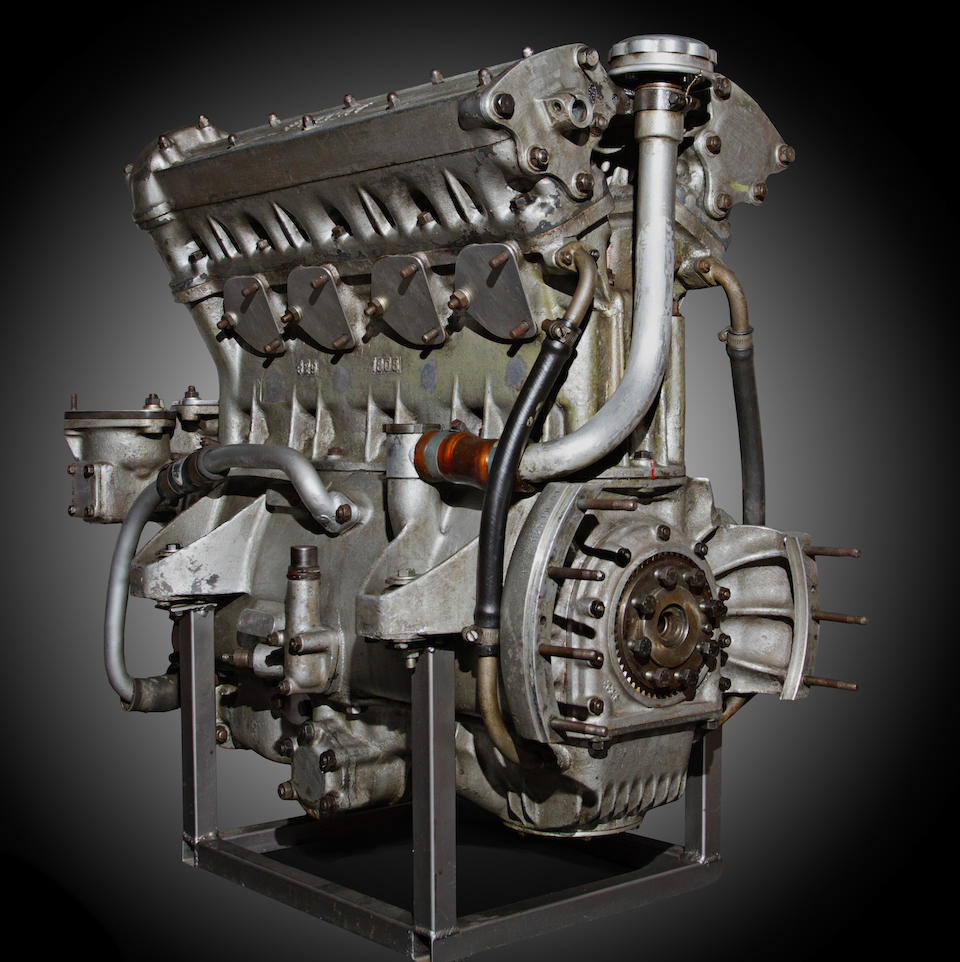 A Ferrari 625 LM 2.5-liter four-cylinder engine,