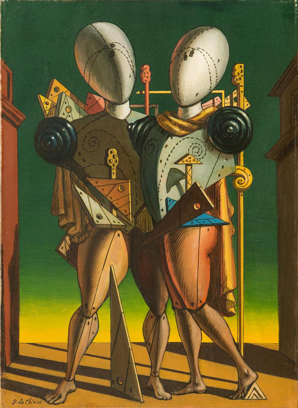 GIORGIO DE CHIRICO (1888-1978) Ettore e Andromaca 22 1/16 x 15 3/4in. (56 x 40cm)