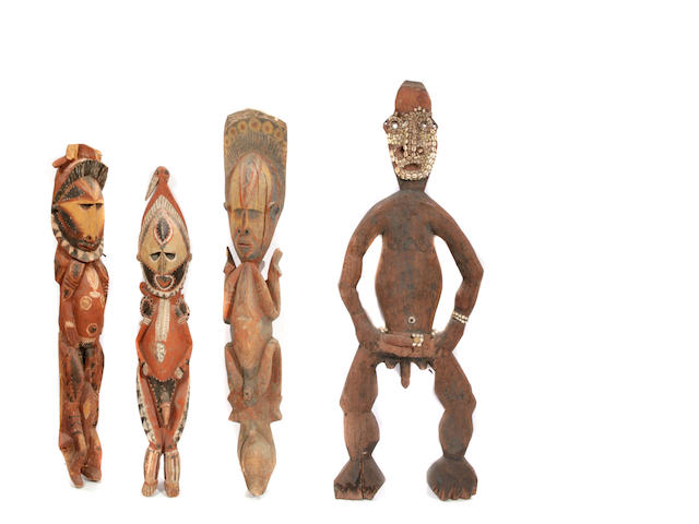 A group of four African figures