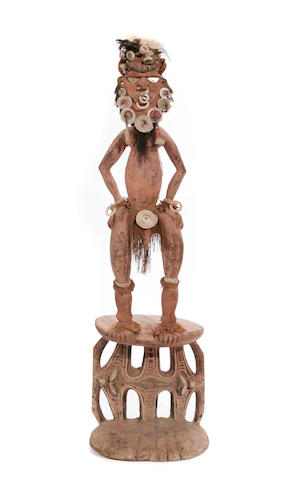 A large Papua New Guinea orators stool