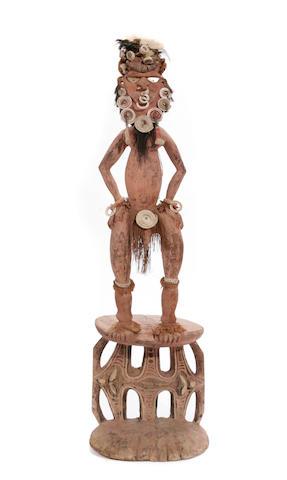 A large Papua New Guinea orators stool