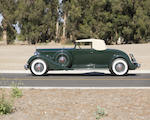 1934 Packard V-12 Convertible Coupe  Chassis no. 73933 Engine no. 902531