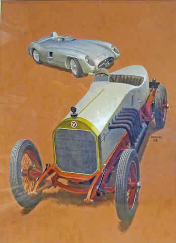 Peter Helck: Mercedes-Benz racers,