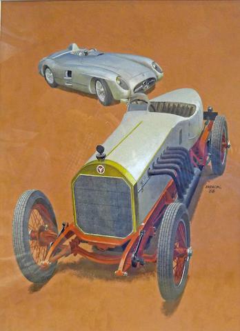 Peter Helck: Mercedes-Benz racers,