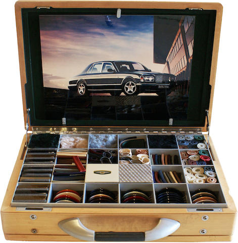 A Bentley Arnage colors sample kit,