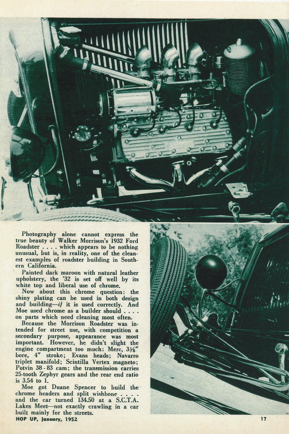 """Subject of an 18-page article in """"The Rodder's Journal"""",The Walker Morrison Roadster 1932 Ford """"Highboy""""  Chassis no. 18-74450"""