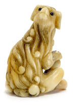 Two netsuke of dogs Late Edo/Meiji period (19th century)